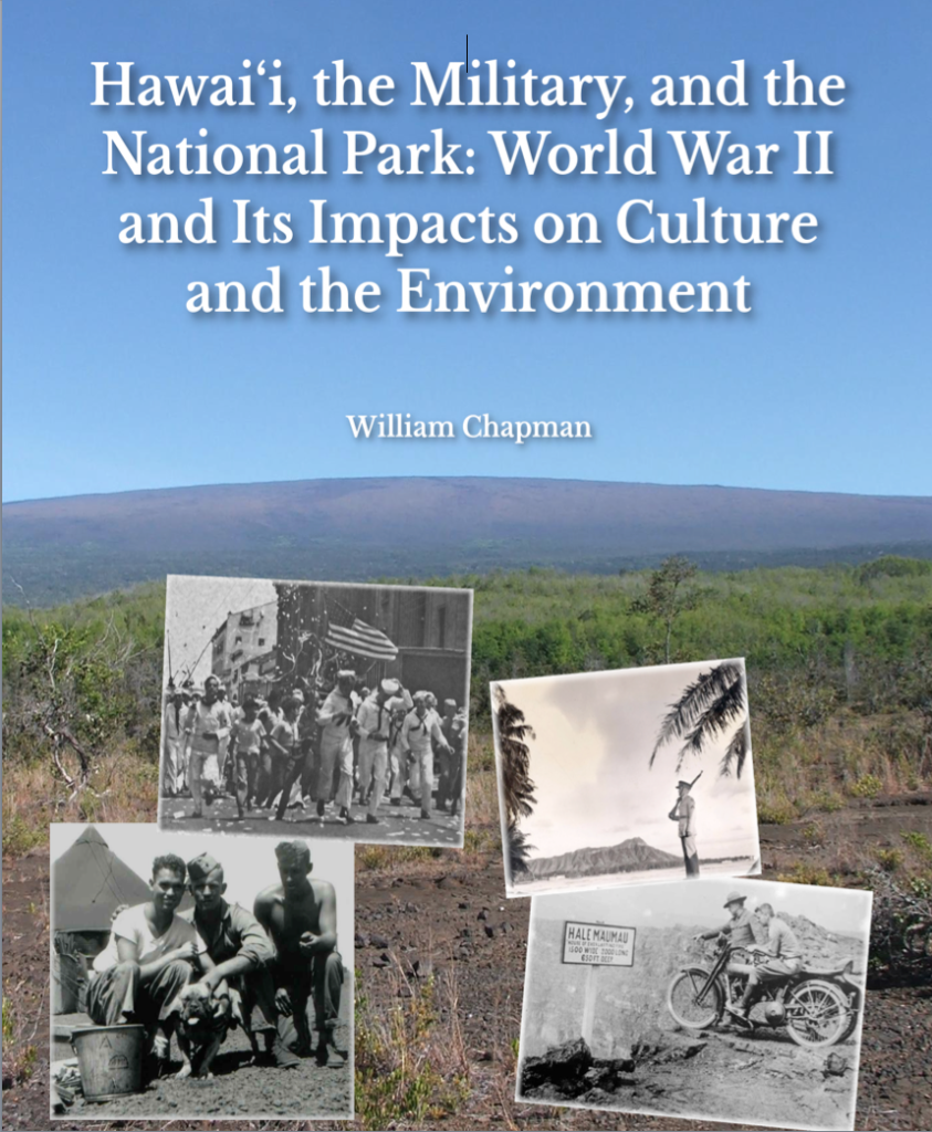 Cover of a publication for the National Park Service on the military uses of the parks in World War II (2012)