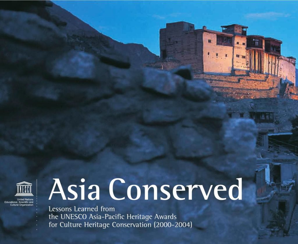 Cover of Asia Conserved, part of a nearly twenty-year program by UNESCO in which Chapman has played a central role